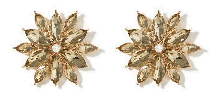 Charming Charlie Brilliant Poinsettia Studs